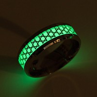 Magen Star of David Glow in Dark Ring