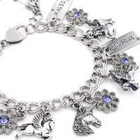 Girls Unicorn Charm Bracelet