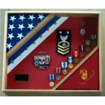 Flag Connections Marine Corps Gifts, USMC Shadow Box, Marine Corps Gift