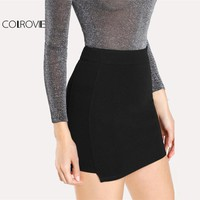 Solid Knit Bodycon Skirt
