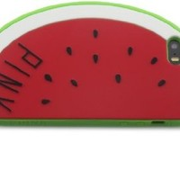 Nine States Soft Silicone Watermelon Protective Case for Apple iPhone 5 5s (Crimson)