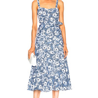 Veronica Beard Marena Dress in Blue & White Beachside | FWRD