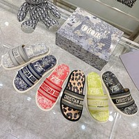 Dior early spring new jacquard embroidery sandals Shoes