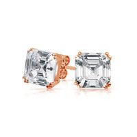 Bling Jewelry Asscher Rose Studs