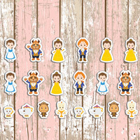 Beauty & Beast Planner Stickers | Erin Condren | Inkwell | Kikki K | Plan | Sticker | Disney | Movie | Belle | Teapot | Cute | Movie |