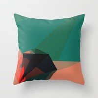 Shape Play 1 Throw Pillow by Ducky B