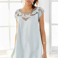 Kimchi Blue Cutwork Tropical Sun Dress-