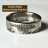 Custom Made / Sizes 5-12 / California Coin Ring (Please include size in purchase notes)