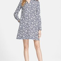 Women's Diane von Furstenberg 'Taffy' Print Cotton A-Line Dress