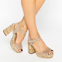 New Look Wide Fit Cork Suedette Sandal