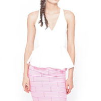 Lazy Oaf Hit The Wall Midi Skirt - Pink