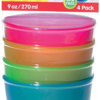 nuby 4 pk embossed cups Case of 24