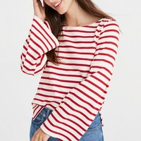 Madewell x Armor-Lux® Flare-Sleeve Striped Top