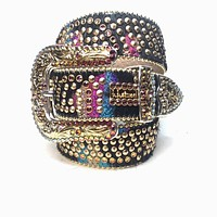B.B. Simon 'Candy' Studded Swarovski Crystal Belt