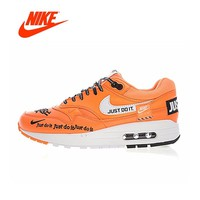 Original New Arrival Authentic NIKE Air Max 1 Women's Breathable Running Shoes Just Do It Sneakers Sport Outdoor 917691-800
