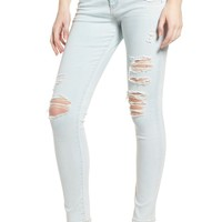 AG The Farrah Ripped High Waist Ankle Skinny Jeans (30 Years Wild Abandon) | Nordstrom