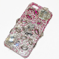 Pink Iphone for Wedding, Bling  iphone 5 case, Pink  iPhone  case, Wedding Accessories,  iphone 5  cover, , 3D Cell Phone Cover