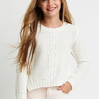 Twisted-Seam Cable Knit Sweater (Kids)