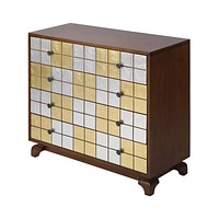 Jacobson Modern Chest in Multicolor (Silver, Gold, Brown)