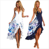 2016 Trending Fashion Floral Printed Women Sexy Erotic  One Piece Dress  _ 10188