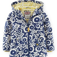 Girl's Mini Boden Water Resistant Jersey Lined Hooded Anorak