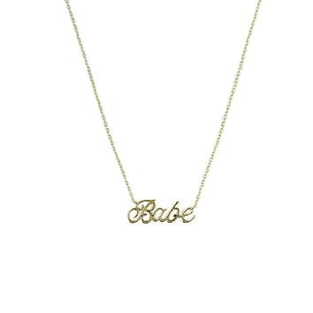 Babe Gold Necklace