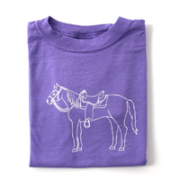 Giddy Up Purple Short Sleeve Tee