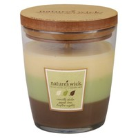 Nature's Wick Jar Candle - Apple/Vanilla/Bonfire (10 Oz)