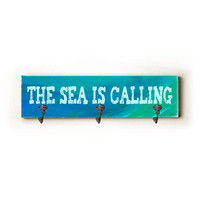 The Sea Is Calling by Artist Lisa Weedn Decorative Wall Hanger