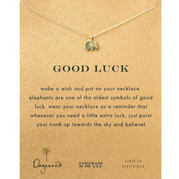 Moon Dogeared Good Luck Alloy Elephant Gold Plated Shorts Chains Clavicle Necklace