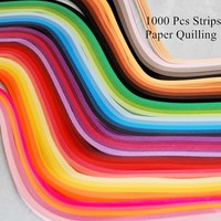 1000Pcs Strips Paper Quilling 39cm long mix gradient colors handmade papercraft DIY Craft