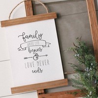 Family Canvas Poster
