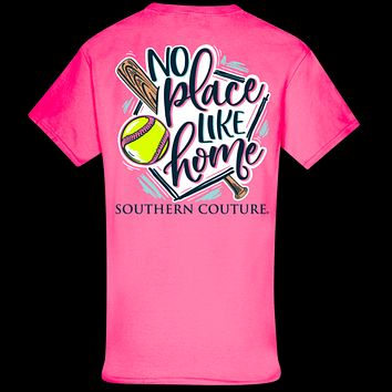 Southern Couture Classic No Place Like Home Softball T-Shirt
