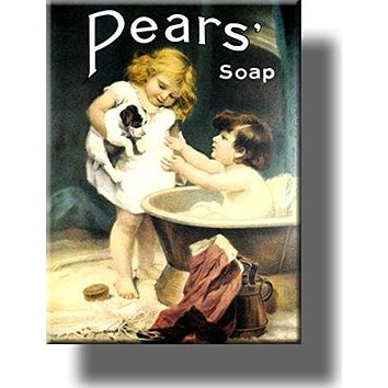 Pears Soap Vintage Bathroom Picture on Stretched Canvas, Wall Art Décor, Ready to Hang!