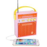 Blossom Pink Retro Sounds Radio + MP3 Speaker