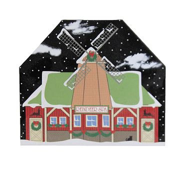 Cats Meow North Pole Reindeer Spa 2020 Christmas Windmill - 20922