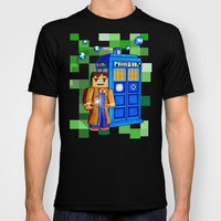 8bit Tardis Doctor who Made in USA Short sleeves tee tshirt