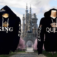 Two hoodies one King and one Queen
