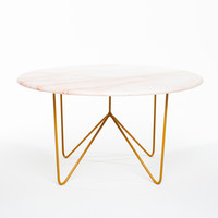 Filetto Rosso Marble & Bronze Powdercoated Steel Table