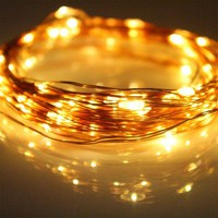 1x 2M 20 LEDs Battery Operated Mini LED Copper Wire String Fairy Lights Outdoor Lighting