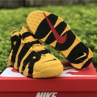 Nike Air More Uptempo Yellow Black Basketball Shoes 40 46