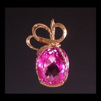 Wire Sculpted Pink Topaz Pendant