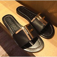 TOM FORD TF Metal slippers-1
