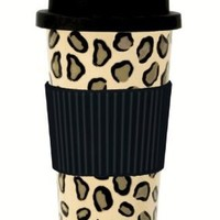 C.R. Gibson Lolita Porcelain To Go Cup, Leopard: Kitchen & Dining