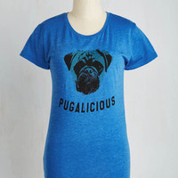 Quirky Mid-length Short Sleeves What's up, Dog? Tee