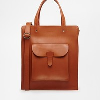 Sandqvist Christian Leather Tote Bag - Brown