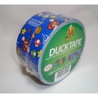 Duck Brand 281040 Super Mario Printed Duct Tape, 1.88 Inches by 10 Yards, Single Roll