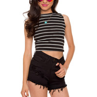 Edie High Waist Shorts - Black