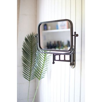 Rotating Metal Framed Wall Mirror