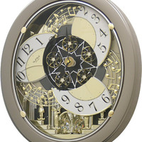 0-010570>Golden Stars Musical Wall Clock Champagne